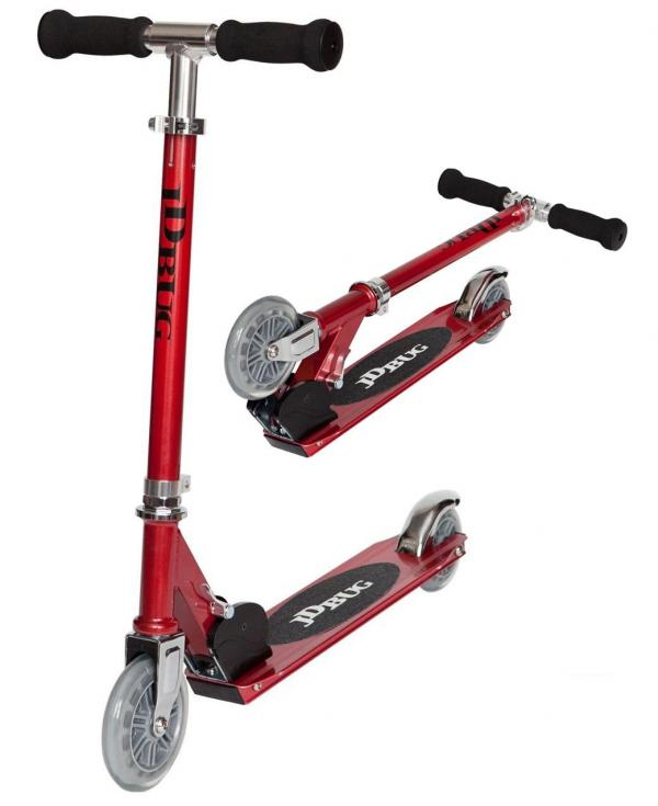 JD Bug Junior Street Scooter - Red Glow Pearl-0