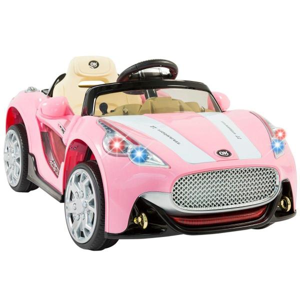Kids Maserati Style GT Roadster Electric / Battery Ride On 12v Sports Car - Pink-14958