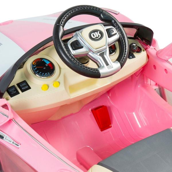 Kids Maserati Style GT Roadster Electric / Battery Ride On 12v Sports Car - Pink-14955