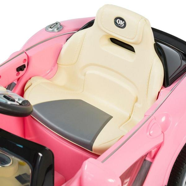 Kids Maserati Style GT Roadster Electric / Battery Ride On 12v Sports Car - Pink-14954
