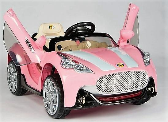 Kids Maserati Style GT Roadster Electric / Battery Ride On 12v Sports Car - Pink-0