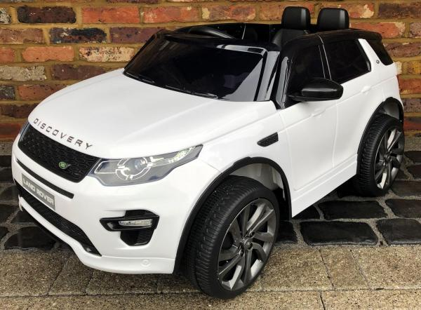 Licensed Kids Land Rover Range Rover Discovery HSE Sport 12v Electric Ride on Car - White-0