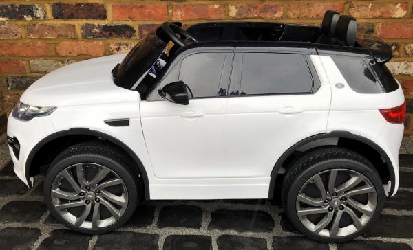 Licensed Kids Land Rover Range Rover Discovery HSE Sport 12v Electric Ride on Car - White-15131