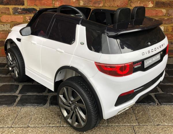 Licensed Kids Land Rover Range Rover Discovery HSE Sport 12v Electric Ride on Car - White-15129