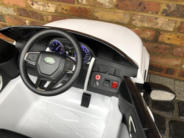Licensed Kids Land Rover Range Rover Discovery HSE Sport 12v Electric Ride on Car - White-15124