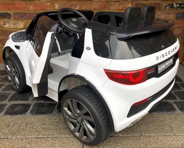 Licensed Kids Land Rover Range Rover Discovery HSE Sport 12v Electric Ride on Car - White-15128