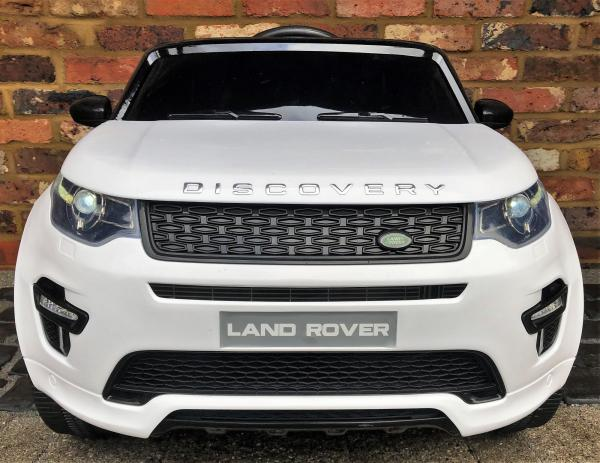 Licensed Kids Land Rover Range Rover Discovery HSE Sport 12v Electric Ride on Car - White-15127