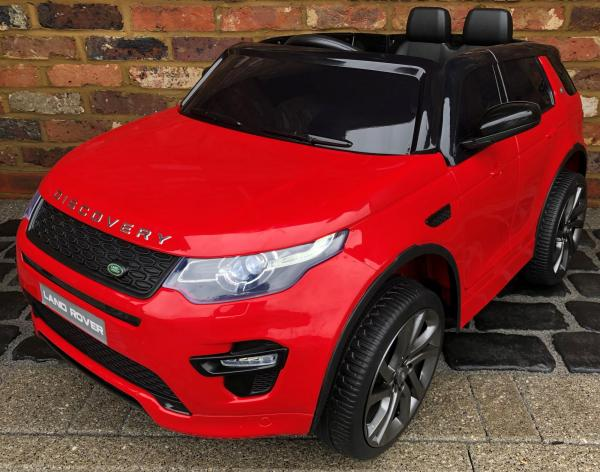 Licensed Kids Land Rover Range Rover Discovery HSE Sport 12v Electric Ride on Car - Red-0