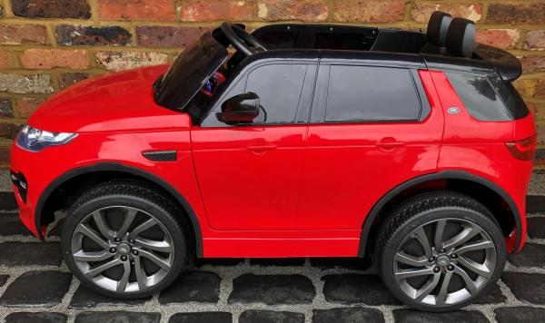 Licensed Kids Land Rover Range Rover Discovery HSE Sport 12v Electric Ride on Car - Red-15733