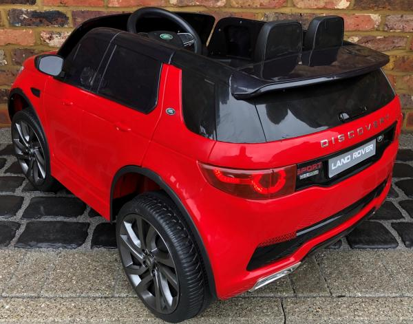 Licensed Kids Land Rover Range Rover Discovery HSE Sport 12v Electric Ride on Car - Red-15730
