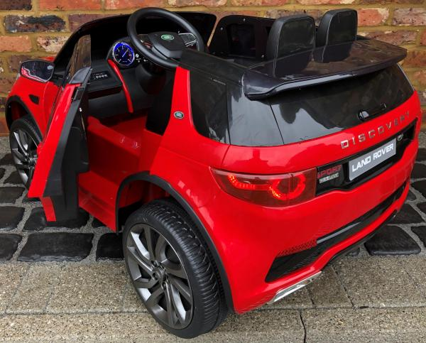Licensed Kids Land Rover Range Rover Discovery HSE Sport 12v Electric Ride on Car - Red-15735