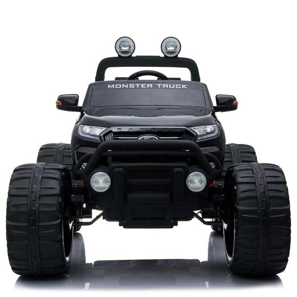 Ford Licensed Ranger Monster Truck Pickup 4WD Electric Ride on Car Jeep - Black -15004