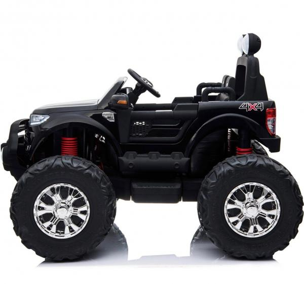 Ford Licensed Ranger Monster Truck Pickup 4WD Electric Ride on Car Jeep - Black -15001