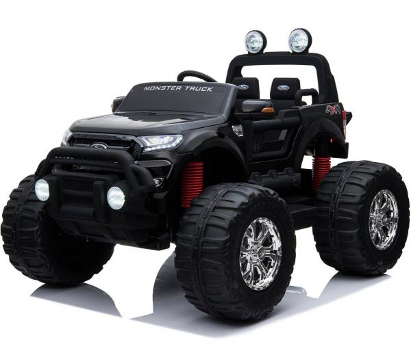 Ford Licensed Ranger Monster Truck Pickup 4WD Electric Ride on Car Jeep - Black -0