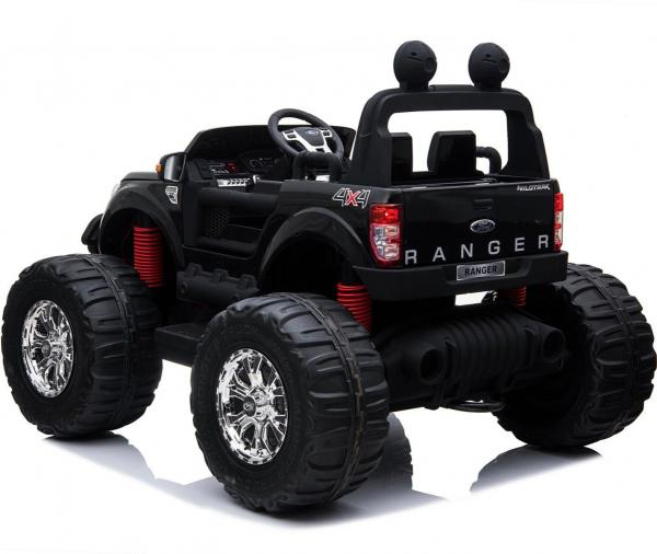 Ford Licensed Ranger Monster Truck Pickup 4WD Electric Ride on Car Jeep - Black -15003