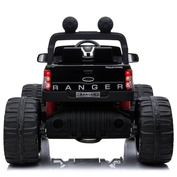 Ford Licensed Ranger Monster Truck Pickup 4WD Electric Ride on Car Jeep - Black -15007