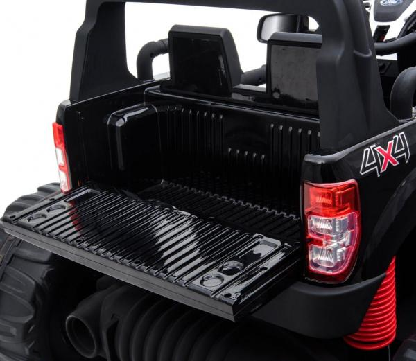 Ford Licensed Ranger Monster Truck Pickup 4WD Electric Ride on Car Jeep - Black -15005
