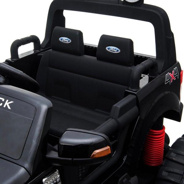 Ford Licensed Ranger Monster Truck Pickup 4WD Electric Ride on Car Jeep - Black -15006