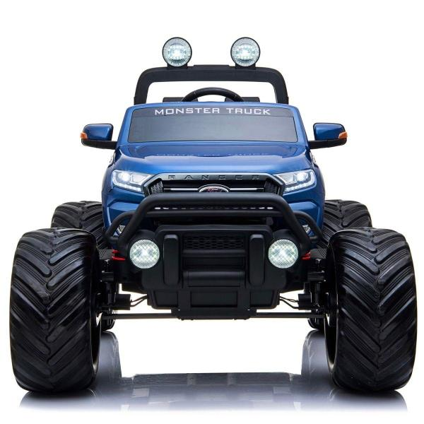 Ford Licensed Ranger Monster Truck Pickup 4WD Electric Ride on Car Jeep - Blue-15035