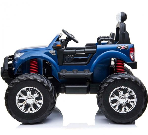 Ford Licensed Ranger Monster Truck Pickup 4WD Electric Ride on Car Jeep - Blue-15036