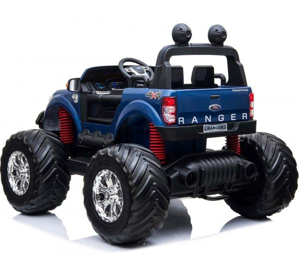 Ford Licensed Ranger Monster Truck Pickup 4WD Electric Ride on Car Jeep - Blue-15037