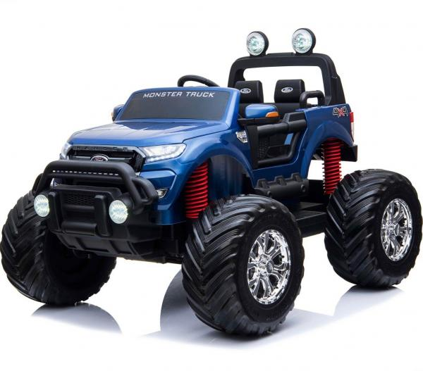 Ford Licensed Ranger Monster Truck Pickup 4WD Electric Ride on Car Jeep - Blue-0