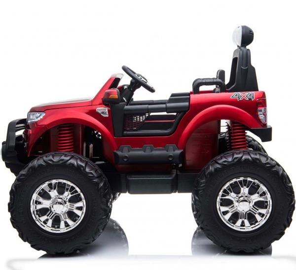 Ford Licensed Ranger Monster Truck Pickup 4WD Electric Ride on Car Jeep - Red-15021
