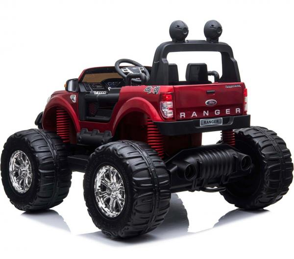Ford Licensed Ranger Monster Truck Pickup 4WD Electric Ride on Car Jeep - Red-15023