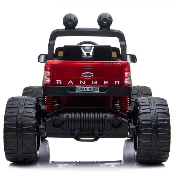 Ford Licensed Ranger Monster Truck Pickup 4WD Electric Ride on Car Jeep - Red-15022