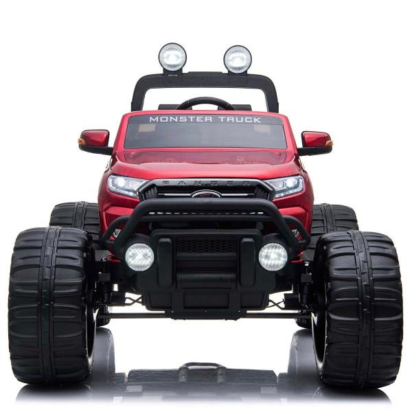 Ford Licensed Ranger Monster Truck Pickup 4WD Electric Ride on Car Jeep - Red-15024