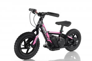 "Revvi 12"" Kids Electric / Lithium Battery Dirt Bike - 24v Motorbike Pink-0"