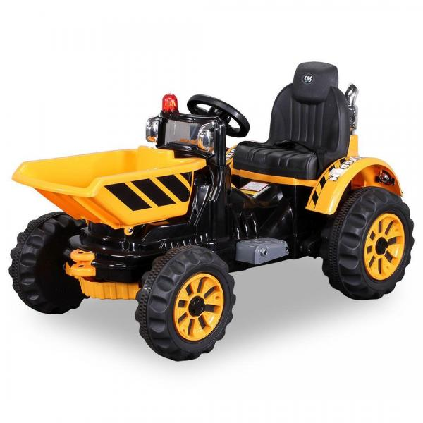 Electric Ride on Dumper Truck - 12v - Yellow-0