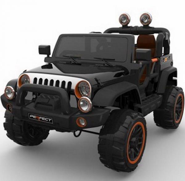 Wrangler Recon Edition 2 Seater Jeep 4x4 style ride on car - Black-15691