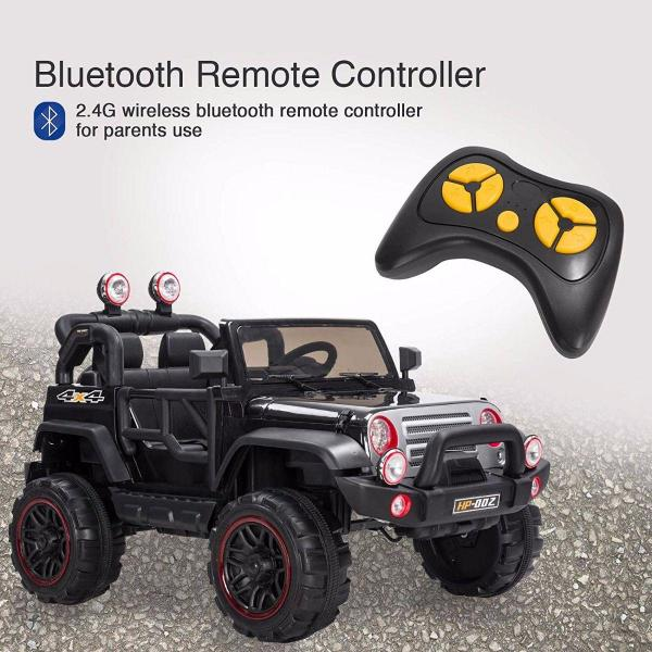 Wrangler Recon Edition 2 Seater Jeep 4x4 style ride on car - Black-15690