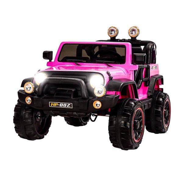Wrangler Recon Edition 2 Seater Jeep 4x4 style ride on car - Pink-0