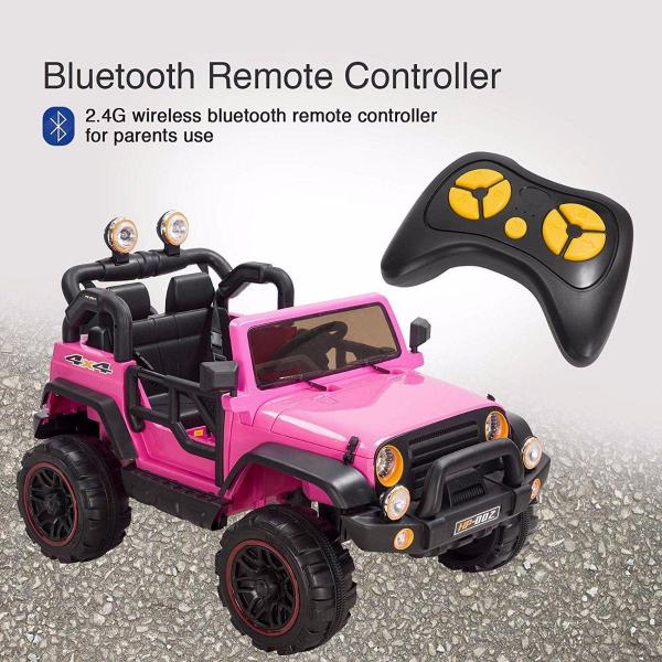 Wrangler Recon Edition 2 Seater Jeep 4x4 style ride on car - Pink-15677