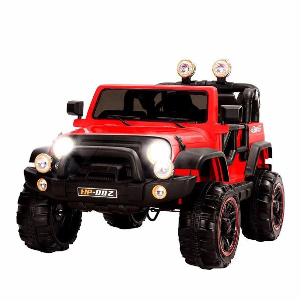 Wrangler Recon Edition 2 Seater Jeep 4x4 style ride on car - Red-0