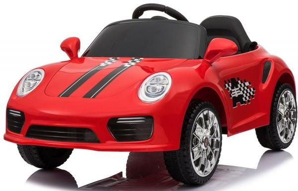 Kids Porsche 911 Style Roadster Electric 12v Ride On Sports Car - Red-0
