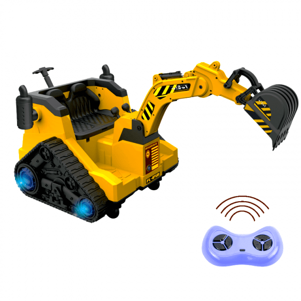 12V Battery Operated / Electric Ride On Digger with 360 Degree Spin and Working Bucket - 12v - Orange-0
