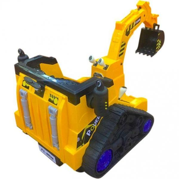 12V Battery Operated / Electric Ride On Digger with 360 Degree Spin and Working Bucket - 12v - Orange-15636