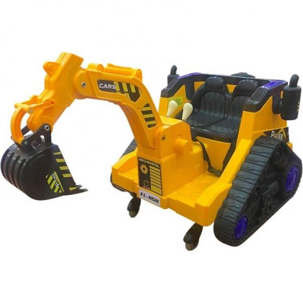 12V Battery Operated / Electric Ride On Digger with 360 Degree Spin and Working Bucket - 12v - Orange-15638