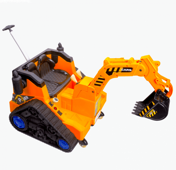 12V Battery Operated / Electric Ride On Digger with 360 Degree Spin and Working Bucket - 12v - Orange-15637