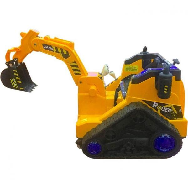 12V Battery Operated / Electric Ride On Digger with 360 Degree Spin and Working Bucket - 12v - Orange-15635