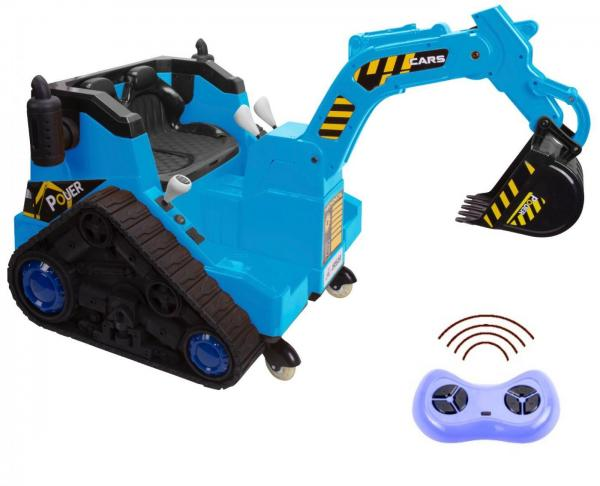 12V Battery Operated / Electric Ride On Digger with 360 Degree Spin and Working Bucket - 12v - Blue-0
