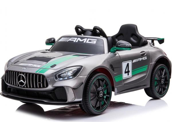 Licensed Mercedes-Benz AMG GT4 Sports Edition 12V Electric / Battery Ride On Car - Silver-0