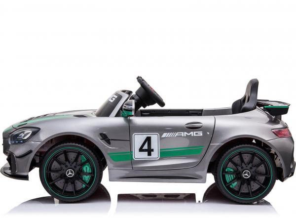 Licensed Mercedes-Benz AMG GT4 Sports Edition 12V Electric / Battery Ride On Car - Silver-15566