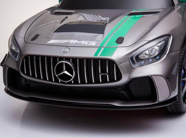 Licensed Mercedes-Benz AMG GT4 Sports Edition 12V Electric / Battery Ride On Car - Silver-15571
