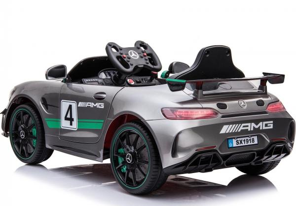 Licensed Mercedes-Benz AMG GT4 Sports Edition 12V Electric / Battery Ride On Car - Silver-15573