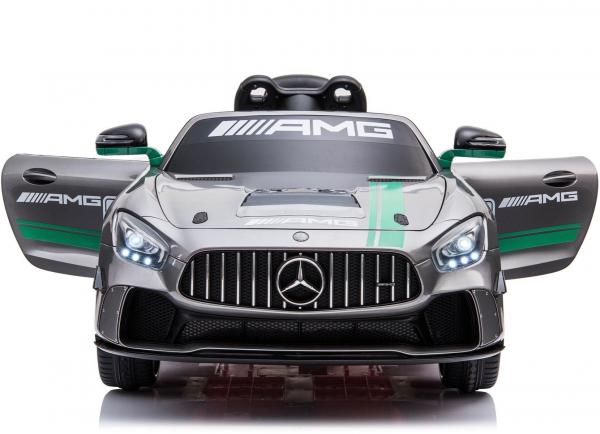 Licensed Mercedes-Benz AMG GT4 Sports Edition 12V Electric / Battery Ride On Car - Silver-15569