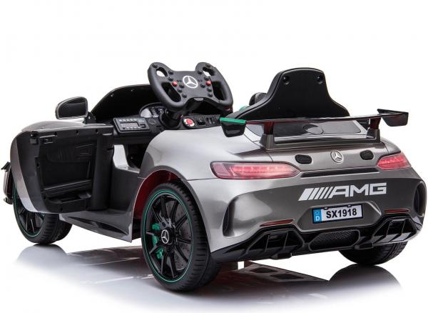 Licensed Mercedes-Benz AMG GT4 Sports Edition 12V Electric / Battery Ride On Car - Silver-15561
